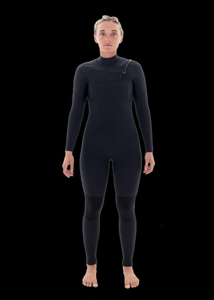 needessentials wetsuits womens front zip steamer